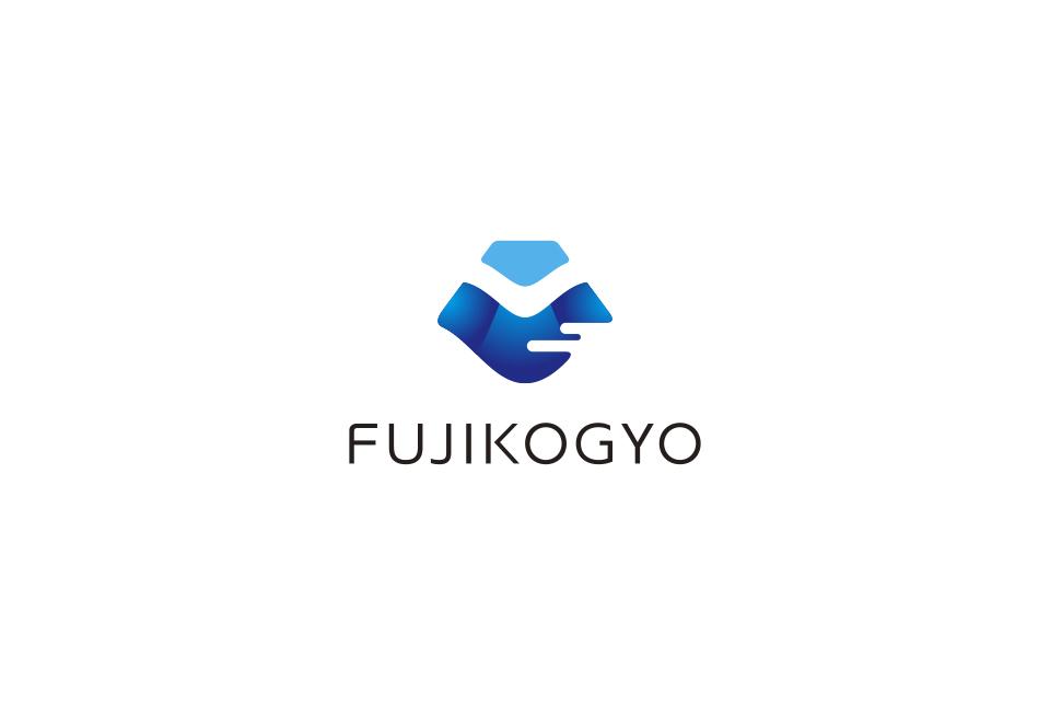 富士山をモチーフにした会社ロゴデザイン