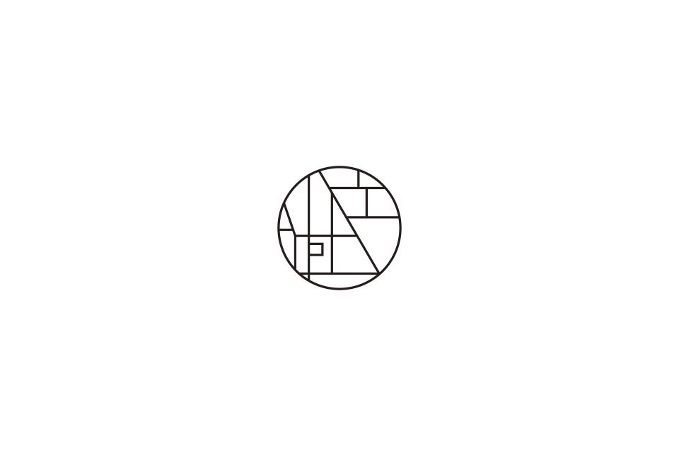 地図を元にしたホテルのロゴデザイン
