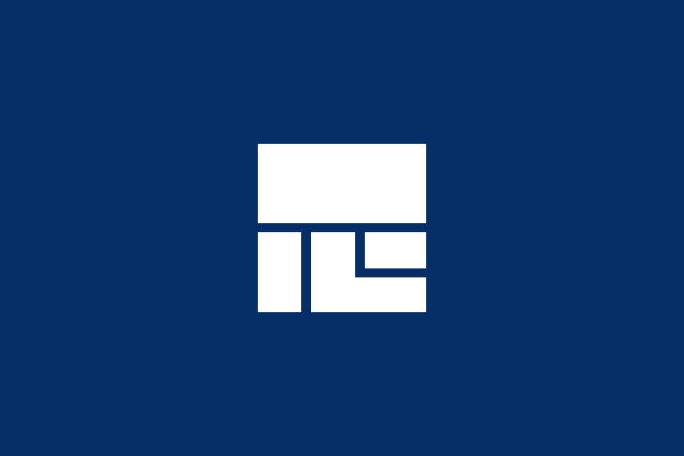 ロゴデザインの白抜きイメージ