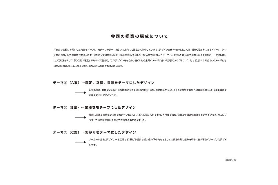 提案デザインの構成